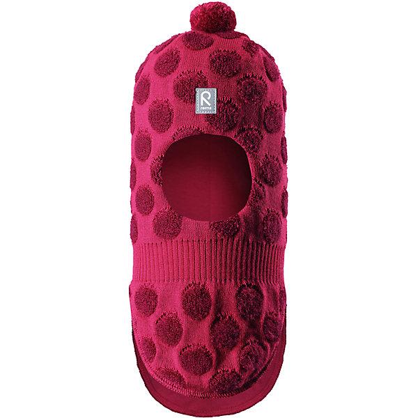 Шапка-шлем Reima Salla для девочкиШапки и шарфы<br>Характеристики товара:<br><br>• цвет: розовый;<br>• состав: 50% шерсть, 50% полиакрил;<br>• подкладка: 97% хлопок, 3% эластан;<br>• температурный режим: от 0 до -20С;<br>• сезон: зима; <br>• особенности модели: вязаная, шерстяная;<br>• шерсть идеально поддерживает температуру;<br>• ветронепроницаемые вставки в области ушей;<br>• сплошная подкладка: гладкий хлопковый трикотаж;<br>• декоративный помпон сверху;<br>• логотип Reima спереди;<br>• страна бренда: Финляндия;<br>• страна изготовитель: Китай.<br><br>Веселая шерстяная шапка-шлем с хлопковой подкладкой согреет в холода, а ветронепроницаемые вставки защитят ушки от ветра. Маленький помпон и симпатичный рисунок в шарики отлично подойдет маленьким любителям прогулок на свежем воздухе!<br><br>Шапку-шлем Salla Reima от финского бренда Reima (Рейма) можно купить в нашем интернет-магазине.<br>Ширина мм: 89; Глубина мм: 117; Высота мм: 44; Вес г: 155; Цвет: розовый; Возраст от месяцев: 9; Возраст до месяцев: 12; Пол: Женский; Возраст: Детский; Размер: 46,52,50,48; SKU: 6907166;