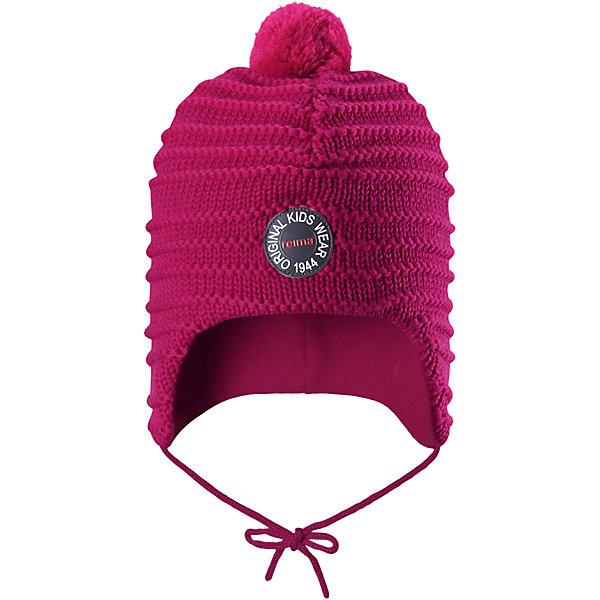 Шапка Reima Kumpu для девочкиШапки и шарфы<br>Характеристики товара:<br><br>• цвет: розовый;<br>• состав: 100% шерсть;<br>• подкладка: 100% полиэстер, флис;<br>• температурный режим: от 0 до -20С;<br>• сезон: зима; <br>• особенности модели: вязаная, шерстяная;<br>• шерсть идеально поддерживает температуру;<br>• ветронепроницаемые вставки в области ушей;<br>• сплошная подкладка: мягкий теплый флис;<br>• шапка на завязках, сверху помпон;<br>• логотип Reima спереди;<br>• страна бренда: Финляндия;<br>• страна изготовитель: Китай.<br><br>Эта шапка из мериносовой шерсти подарит уют в морозную погоду: мягкая подкладка из флиса обеспечит ребенку тепло и комфорт. Шерстяная шапка с флисовой подкладкой идеально подходит для маленьких любителей приключений на свежем воздухе, ведь флис быстро сохнет и выводит влагу. За счет эластичной вязки шапка отлично сидит, а ветронепроницаемые вставки в области ушей защищают ушки от холодного ветра. Благодаря завязкам, эта стильная шапка не съезжает и хорошо защищает голову. Создайте стильный теплый образ: сочетайте шапку с горловиной Star!<br><br>Шапку Kumpu Reima от финского бренда Reima (Рейма) можно купить в нашем интернет-магазине.<br>Ширина мм: 89; Глубина мм: 117; Высота мм: 44; Вес г: 155; Цвет: розовый; Возраст от месяцев: 9; Возраст до месяцев: 12; Пол: Женский; Возраст: Детский; Размер: 46,52,50,48; SKU: 6907231;