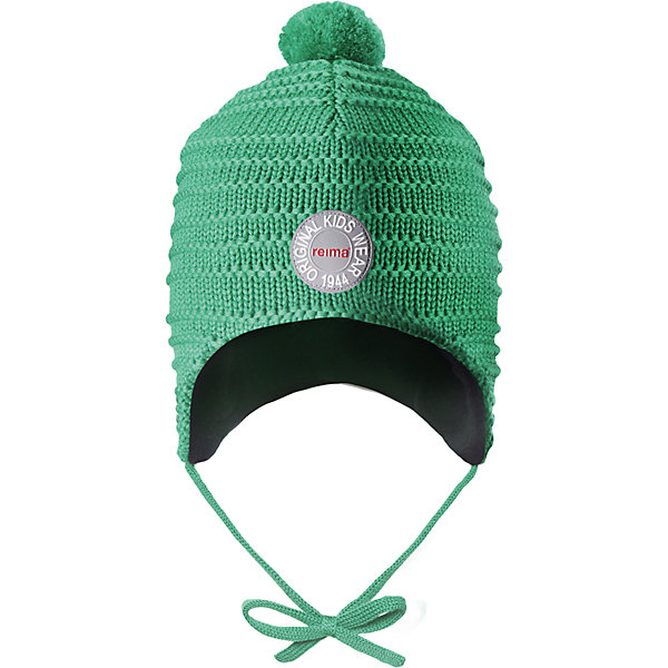 Шапка Reima Kumpu для мальчикаШапки и шарфы<br>Характеристики товара:<br><br>• цвет: зеленый;<br>• состав: 100% шерсть;<br>• подкладка: 100% полиэстер, флис;<br>• температурный режим: от 0 до -20С;<br>• сезон: зима; <br>• особенности модели: вязаная, шерстяная;<br>• шерсть идеально поддерживает температуру;<br>• ветронепроницаемые вставки в области ушей;<br>• сплошная подкладка: мягкий теплый флис;<br>• шапка на завязках, сверху помпон;<br>• логотип Reima спереди;<br>• страна бренда: Финляндия;<br>• страна изготовитель: Китай.<br><br>Эта шапка из мериносовой шерсти подарит уют в морозную погоду: мягкая подкладка из флиса обеспечит ребенку тепло и комфорт. Шерстяная шапка с флисовой подкладкой идеально подходит для маленьких любителей приключений на свежем воздухе, ведь флис быстро сохнет и выводит влагу. За счет эластичной вязки шапка отлично сидит, а ветронепроницаемые вставки в области ушей защищают ушки от холодного ветра. Благодаря завязкам, эта стильная шапка не съезжает и хорошо защищает голову. Создайте стильный теплый образ: сочетайте шапку с горловиной Star!<br><br>Шапку Kumpu Reima от финского бренда Reima (Рейма) можно купить в нашем интернет-магазине.<br>Ширина мм: 89; Глубина мм: 117; Высота мм: 44; Вес г: 155; Цвет: зеленый; Возраст от месяцев: 9; Возраст до месяцев: 12; Пол: Мужской; Возраст: Детский; Размер: 46,52,50,48; SKU: 6907241;