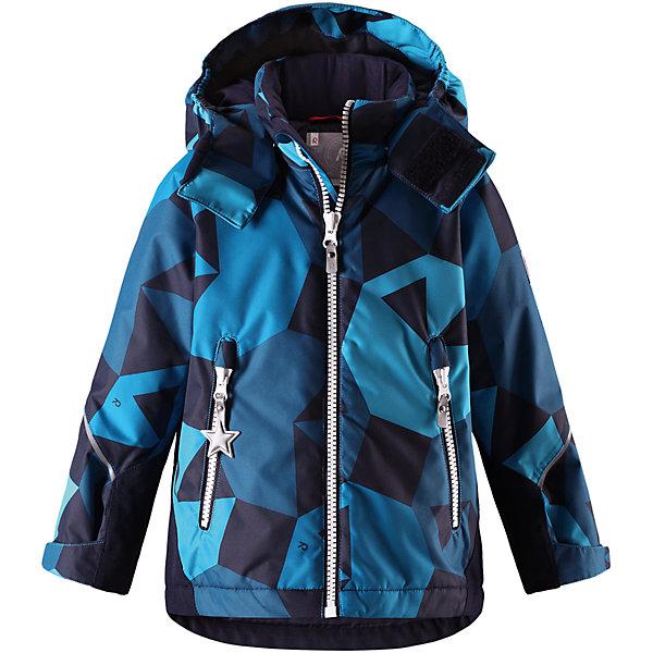 Куртка Grane Reimatec® Reima для мальчикаОдежда<br>Характеристики товара:<br><br>• цвет: синий принт;<br>• состав: 100% полиэстер;<br>• утеплитель: 160 г/м2;<br>• сезон: зима;<br>• температурный режим: от 0 до -20С;<br>• водонепроницаемость: 8000 мм;<br>• воздухопроницаемость: 7000 мм;<br>• износостойкость: 30000 циклов (тест Мартиндейла);<br>• водо и ветронепроницаемый, дышащий и грязеотталкивающий материал;<br>• все швы проклеены и водонепроницаемы;<br>• безопасный съемный капюшон на кнопках;<br>• застежка: молния с защитой подбородка от защемления;<br>• прочные усиленные вставки на рукавах и спинке;<br>• гладкая подкладка из полиэстера;<br>• регулируемые манжеты рукавов на липучке;<br>• регулируемый подол и талия;<br>• два кармана на молнии;<br>• логотип Reima® на рукаве и внизу спины;<br>• светоотражающие элементы;<br>• страна бренда: Финляндия;<br>• страна производства: Китай.<br><br>Сверхпрочная зимняя куртка Reimatec ® Kiddo. Куртка с капюшоном Reimatec ® Kiddo изготовлена из износостойкого, дышащего, водо и ветронепроницаемого материала с водо и грязеотталкивающей поверхностью. Все швы проклеены, водонепроницаемы. Рукава и спинка снабжены прочными усилениями, которые защищают участки, больше всего подверженные износу во время подвижных игр и катания на санках. <br><br>У куртки прямой покрой с регулируемой талией и подолом, так что силуэт можно сделать более облегающим. Концы рукавов тоже регулируются застежкой на липучке, как раз под ширину перчаток. Съемный капюшон защищает от холодного ветра, а еще обеспечивает дополнительную безопасность во время игр на улице. Куртка снабжена гладкой подкладкой из полиэстера, двумя карманами на молнии и светоотражателями.<br><br>Куртка Grane Reimatec® Reima можно купить в нашем интернет-магазине.<br>Ширина мм: 356; Глубина мм: 10; Высота мм: 245; Вес г: 519; Цвет: синий; Возраст от месяцев: 18; Возраст до месяцев: 24; Пол: Мужской; Возраст: Детский; Размер: 92,140,134,128,122,116,110,104,98; SKU: 6907794;
