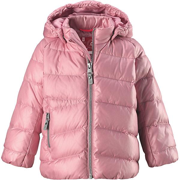 Куртка Reima Vihta для девочкиОдежда<br>Характеристики товара:<br><br>• цвет: розовый <br>• состав: 100% полиэстер<br>• утеплитель: 60 г/м2 (60% пух, 40% перо)<br>• сезон: зима<br>• температурный режим: от 0 до -20С<br>• особенности модели: пуховая<br>• ветронепроницаемый материал<br>• гладкая подкладка из полиэстера<br>• безопасный, съемный капюшон на кнопках<br>• защита подбородка от защемления<br>• застежка: молния<br>• боковой карман на молнии<br>• светоотражающие детали<br>• страна бренда: Финляндия<br>• страна изготовитель: Китай<br><br>Зимняя пуховая куртка с капюшоном для девочки! Внутри – теплый пух, а снаружи – ветронепроницаемый материал. Куртка застегивается на молнию, есть защита от защемления подбородка. Боковой карман на молнии. Куртка оснащена светоотражающими элементами. Обратите внимание: эту куртку можно сушить в сушильной машине. <br><br>Куртку Vihta Reima от финского бренда Reima (Рейма) можно купить в нашем интернет-магазине.<br>Ширина мм: 356; Глубина мм: 10; Высота мм: 245; Вес г: 519; Цвет: розовый; Возраст от месяцев: 12; Возраст до месяцев: 15; Пол: Женский; Возраст: Детский; Размер: 80,110,104,98,92,86; SKU: 6908260;
