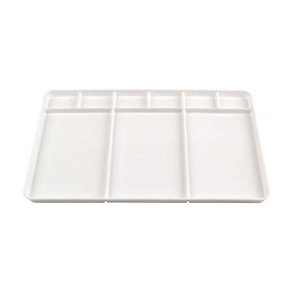 Купить Пластиковая прямоугольная палитра Малевичъ без ручки, 9 ячеек, Китай, Унисекс