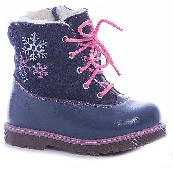 Купить Ботинки для девочки Котофей, Россия, синий, Женский