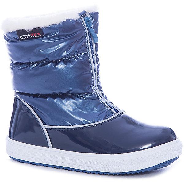 Сапоги для девочки КотофейДутики<br>Характеристики товара:<br><br>• цвет: синий<br>• внешний материал: натуральная кожа, полимер, текстиль<br>• внутренний материал: шерсть<br>• стелька: шерсть<br>• подошва: ТЭП<br>• сезон: зима<br>• мембранные<br>• температурный режим: от -25 до +5<br>• застежка: молния<br>• анатомические <br>• подошва не скользит<br>• защита мыса<br>• страна бренда: Россия<br>• страна изготовитель: Россия<br><br>Мембранные сапоги для девочки удобные и теплые. Сапоги для девочки от бренда Котофей легко надеваются благодаря молнии. Детские теплые сапоги сделаны с применением мембранной технологии. <br><br>Сапоги для девочки Котофей можно купить в нашем интернет-магазине.<br>Ширина мм: 257; Глубина мм: 180; Высота мм: 130; Вес г: 420; Цвет: синий; Возраст от месяцев: 60; Возраст до месяцев: 72; Пол: Женский; Возраст: Детский; Размер: 28,27,26,30,29; SKU: 6913708;