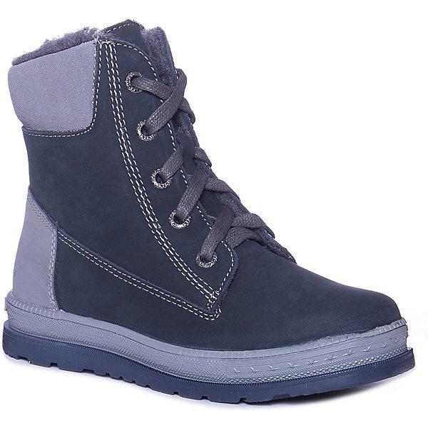 Котофей Ботинки для мальчика Котофей ботинки для мальчика зебра цвет синий 12877 5 размер 34