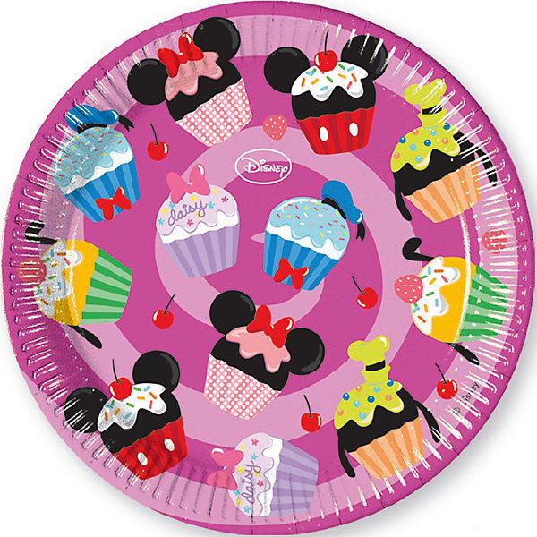 """Фотография товара тарелки """"Микки и его друзья - сладости"""" 23 см, 8 шт. (6914343)"""