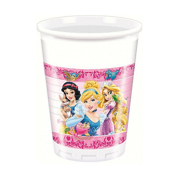 """Фотография товара стаканы пластиковые """"Принцессы и животные"""" 200 мл 8 шт (6914346)"""