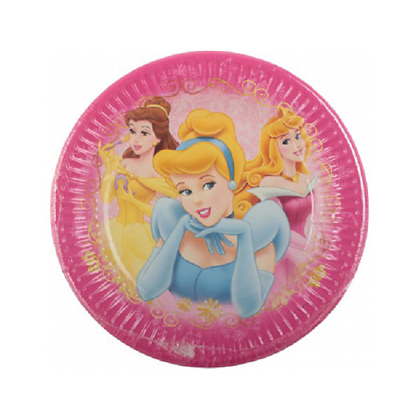 Procos Тарелки «Красивые Принцессы» procos аксессуар для детского праздника приглашения в конвертах самолеты 6 шт