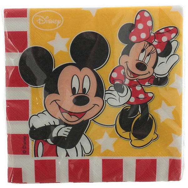 Салфетки Дисней «Микки и Минни»Детский День рождения для девочки<br>Характеристики товара:<br><br>• возраст: от 3 лет;<br>• упаковка: пакет;<br>• размер упаковки: 16х16х2 см.;<br>• количество салфеток: 20 шт.;<br>• размер салфетки: 30х30 см.;<br>• материал: бумага;<br>• бренд, страна: Procos, Россия;<br>• страна-производитель: Греция<br><br>Салфетки Дисней  «Микки и Минни» - незаменимая вещь для любого праздника. Желтая салфетка с красно-белыми полосками с изображением веселых персонажей Дисней Микки и Минни в яркой одежде помогут оригинально и необычно украсить праздничный стол и создать незабываемую атмосферу праздника.<br><br>Салфетки выполнены из безопасных, высококачественных материалов, при их изготовлении использованы нетоксичные красители. <br><br>Салфетки  «Микки и Мини» , 30х30 см., 20 шт., Procos (Прокос)  можно купить в нашем интернет-магазине.<br>Ширина мм: 20; Глубина мм: 165; Высота мм: 165; Вес г: 15; Возраст от месяцев: 36; Возраст до месяцев: 120; Пол: Унисекс; Возраст: Детский; SKU: 6914355;