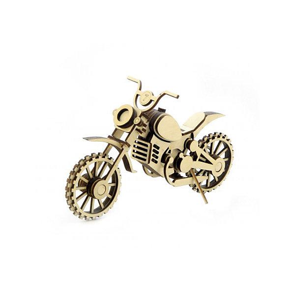 цена Lemmo Деревянный 3D конструктор подвижный Мотоцикл Кросс, Lemmo