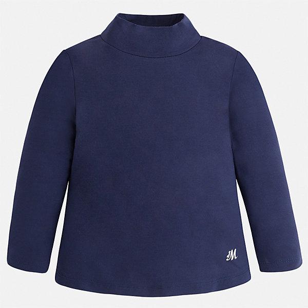 Футболка с длинным рукавом для девочки MayoralВодолазки<br>Характеристики товара:<br><br>• цвет: синий<br>• состав ткани: 95% вискоза, 5% эластан<br>• сезон: демисезон<br>• особенности: однотонная<br>• высокий ворот<br>• длинные рукава<br>• страна бренда: Испания<br>• страна изготовитель: Индия<br><br>Синяя водолазка для девочки от бренда Mayoral создана специально для детей. Однотонная детская водолазка с длинным рукавом сделана из эластичной ткани. Детская водолазка комфортно сидит и аккуратно смотрится. Эта водолазка для девочки - базовая вещь гардероба. <br><br>Водолазку для девочки Mayoral (Майорал) можно купить в нашем интернет-магазине.<br>Ширина мм: 230; Глубина мм: 40; Высота мм: 220; Вес г: 250; Цвет: синий; Возраст от месяцев: 96; Возраст до месяцев: 108; Пол: Женский; Возраст: Детский; Размер: 134,128,122,116,110,104,98; SKU: 6919884;