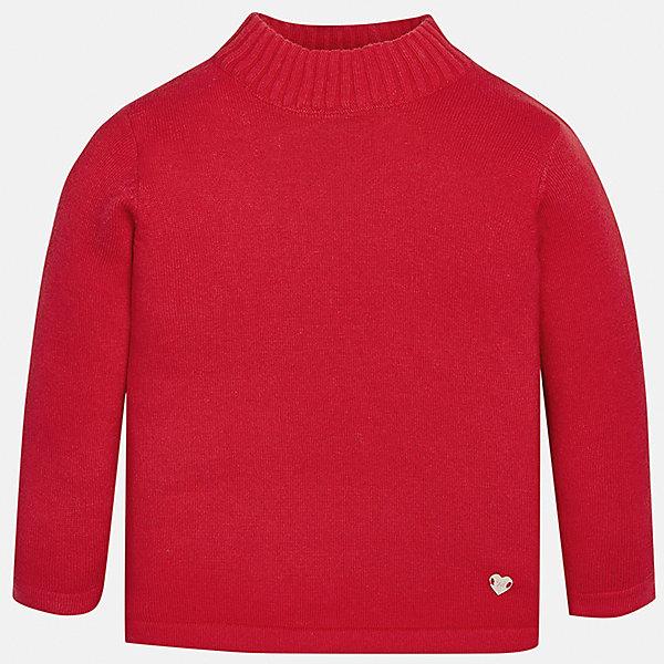 Водолазка Mayoral для девочкиВодолазки<br>Характеристики товара:<br><br>• цвет: красный<br>• состав ткани: 80% хлопок, 17% полиамид, 3% эластан<br>• сезон: демисезон<br>• особенности: однотонная<br>• длинные рукава<br>• страна бренда: Испания<br>• страна изготовитель: Индия<br><br>Яркий свитер для девочки от Майорал подарит ребенку комфорт и тепло. Детский свитер отличается модным и продуманным дизайном. В однотонном свитере для девочки от испанской компании Майорал ребенок будет выглядеть модно, а чувствовать себя - комфортно. <br><br>Свитер для девочки Mayoral (Майорал) можно купить в нашем интернет-магазине.<br>Ширина мм: 230; Глубина мм: 40; Высота мм: 220; Вес г: 250; Цвет: красный; Возраст от месяцев: 18; Возраст до месяцев: 24; Пол: Женский; Возраст: Детский; Размер: 92,98,86,80,74; SKU: 6919980;