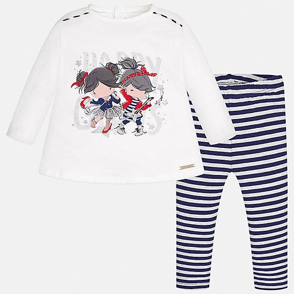 Купить со скидкой Комплект: блузка и леггинсы Mayoral для девочки