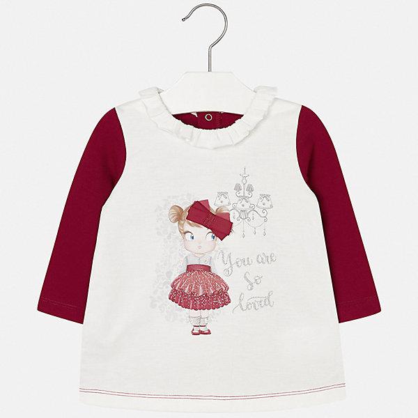 Платье для девочки MayoralПлатья<br>Характеристики товара:<br><br>• цвет: красный<br>• состав ткани: 50% полиэстер, 45% хлопок, 5% эластан<br>• сезон: демисезон<br>• особенности: принт с блестками<br>• застежка: кнопки<br>• длинные рукава<br>• страна бренда: Испания<br>• страна изготовитель: Индия<br><br>Стильное платье для девочки от Майорал подарит ребенку удобство и аккуратный внешний вид. Детское платье отличается модным и продуманным дизайном. В платье с длинным рукавом для девочки от испанской компании Майорал ребенок будет выглядеть модно, а чувствовать себя - комфортно. <br><br>Платье для девочки Mayoral (Майорал) можно купить в нашем интернет-магазине.<br>Ширина мм: 236; Глубина мм: 16; Высота мм: 184; Вес г: 177; Цвет: красный; Возраст от месяцев: 18; Возраст до месяцев: 24; Пол: Женский; Возраст: Детский; Размер: 92,74,98,86,80; SKU: 6920681;