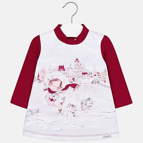 Платье для девочки MayoralПлатья и сарафаны<br>Характеристики товара:<br><br>• цвет: красный<br>• состав ткани: 40% хлопок, 55% полиэстер, 5% эластан, подкладка - 60% хлопок, 40% полиэстер<br>• сезон: демисезон<br>• особенности: принт<br>• застежка: кнопки<br>• длинные рукава<br>• страна бренда: Испания<br>• страна изготовитель: Индия<br><br>Это красивое детское платье сделано из дышащего приятного на ощупь материала. Благодаря качественной ткани детского платья для девочки создаются комфортные условия для тела. Платье для девочки отличается стильным декором.<br><br>Платье для девочки Mayoral (Майорал) можно купить в нашем интернет-магазине.<br>Ширина мм: 236; Глубина мм: 16; Высота мм: 184; Вес г: 177; Цвет: красный; Возраст от месяцев: 6; Возраст до месяцев: 9; Пол: Женский; Возраст: Детский; Размер: 74,98,92,86,80; SKU: 6920705;