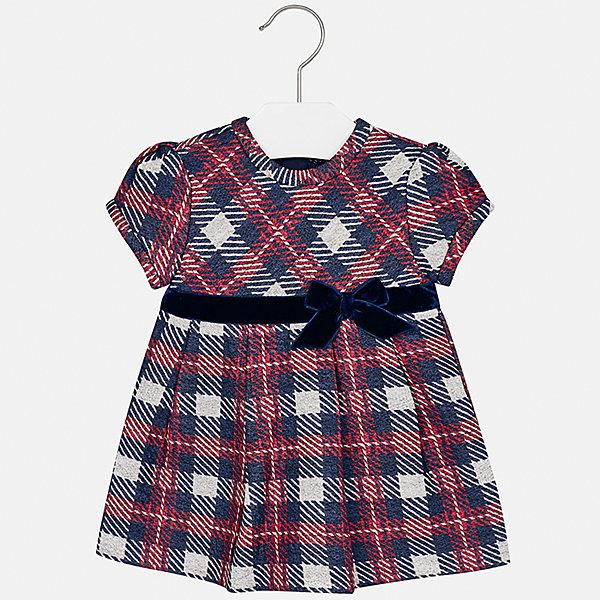 Платье Mayoral для девочкиОдежда<br>Характеристики товара:<br><br>• цвет: синий<br>• состав ткани: 85% хлопок, 15% полиэстер<br>• сезон: демисезон<br>• особенности: бант<br>• застежка: молния<br>• короткие рукава<br>• страна бренда: Испания<br>• страна изготовитель: Индия<br><br>Клетчатое платье для девочки от Майорал подарит ребенку комфорт. В симпатичном платье для девочки от Майорал ребенок будет выглядеть модно, а чувствовать себя - комфортно. Детское платье отличается модным и продуманным дизайном. <br><br>Платье для девочки Mayoral (Майорал) можно купить в нашем интернет-магазине.<br>Ширина мм: 236; Глубина мм: 16; Высота мм: 184; Вес г: 177; Цвет: синий; Возраст от месяцев: 6; Возраст до месяцев: 9; Пол: Женский; Возраст: Детский; Размер: 74,98,92,86,80; SKU: 6920747;