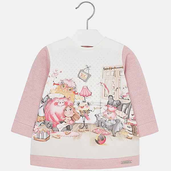 Платье для девочки MayoralПлатья и сарафаны<br>Характеристики товара:<br><br>• цвет: розовый<br>• состав ткани: 65% хлопок, 25% полиэстер, 8% металлизированная нить, 2% эластан<br>• сезон: демисезон<br>• особенности: принт<br>• застежка: кнопки<br>• длинные рукава<br>• страна бренда: Испания<br>• страна изготовитель: Индия<br><br>Стильное платье для девочки от Майорал подарит ребенку комфорт. В симпатичном платье для девочки от Майорал ребенок будет выглядеть модно, а чувствовать себя - комфортно. Детское платье отличается приятным на ощупь материалом. <br><br>Платье для девочки Mayoral (Майорал) можно купить в нашем интернет-магазине.<br>Ширина мм: 236; Глубина мм: 16; Высота мм: 184; Вес г: 177; Цвет: розовый; Возраст от месяцев: 12; Возраст до месяцев: 18; Пол: Женский; Возраст: Детский; Размер: 86,92,80,74,98; SKU: 6920801;
