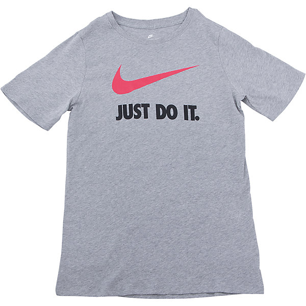 Футболка NIKEФутболки, поло и топы<br>Характеристики товара:<br><br>• цвет: серый<br>• состав ткани: 100% хлопок<br>• сезон: лето<br>• особенности модели: спортивный стиль<br>• короткие рукава<br>• страна бренда: США<br>• страна изготовитель: Турция<br><br>Детская спортивная футболка Nike отличается большим логотипом и надписью на груди. Стильная футболка от Nike может быть одеждой для тренировок или дополнять наряд в спортивном стиле. Такая детская футболка сделана из дышащего натурального материала. <br><br>Футболку Nike (Найк) можно купить в нашем интернет-магазине.<br>Ширина мм: 199; Глубина мм: 10; Высота мм: 161; Вес г: 151; Цвет: серый; Возраст от месяцев: 108; Возраст до месяцев: 120; Пол: Унисекс; Возраст: Детский; Размер: 134/140,146/158,158/170,122/128,128/134; SKU: 6921180;