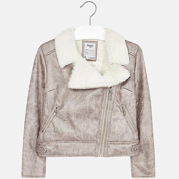 Куртка Mayoral для девочкиДемисезонные куртки<br>Характеристики товара:<br><br>• цвет: коричневый<br>• состав ткани: 100% полиэстер, подклад - 100% полиэстер<br>• застежка: молния<br>• длинные рукава<br>• сезон: демисезон<br>• температурный режим: от +5<br>• страна бренда: Испания<br>• страна изготовитель: Индия<br><br>Коричневая стильная куртка с косой молнией для девочки от Майорал поможет обеспечить тепло и комфорт. Эффектная детская куртка отличается укороченным силуэтом. <br><br>Детская одежда от испанской компании Mayoral отличаются оригинальным и всегда стильным дизайном. Качество продукции неизменно очень высокое.<br><br>Куртку для девочки Mayoral (Майорал) можно купить в нашем интернет-магазине.<br>Ширина мм: 356; Глубина мм: 10; Высота мм: 245; Вес г: 519; Цвет: бежевый/коричневый; Возраст от месяцев: 132; Возраст до месяцев: 144; Пол: Женский; Возраст: Детский; Размер: 152,140,128/134,170,164,158; SKU: 6922038;