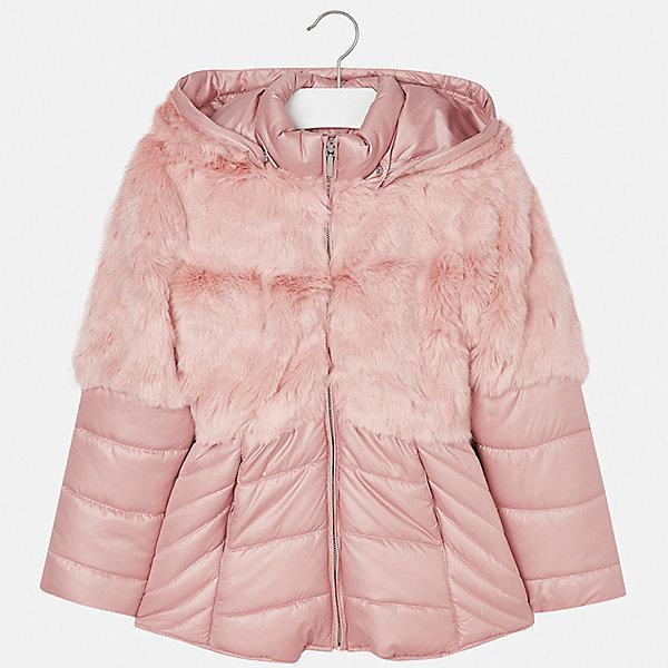 Куртка для девочки MayoralВерхняя одежда<br>Характеристики товара:<br><br>• цвет: розовый<br>• состав ткани: 58% полиэстер, 42% акрил, подклад - 65% полиэстер, 35% хлопок, утеплитель - 100% полиэстер<br>• застежка: молния<br>• длинные рукава<br>• сезон: демисезон<br>• температурный режим: от  0 до -10<br>• страна бренда: Испания<br>• страна изготовитель: Индия<br><br>Эта демисезонная куртка поможет сделать образ стильным и оригинальным. Куртка с отделкой из искусственного меха снова стала одной из моднейших вещей. <br><br>В одежде от испанской компании Майорал ребенок будет выглядеть модно, а чувствовать себя - комфортно. Целая команда европейских талантливых дизайнеров работает над созданием стильных и оригинальных моделей одежды.<br><br>Куртку для девочки Mayoral (Майорал) можно купить в нашем интернет-магазине.<br>Ширина мм: 356; Глубина мм: 10; Высота мм: 245; Вес г: 519; Цвет: розовый; Возраст от месяцев: 96; Возраст до месяцев: 108; Пол: Женский; Возраст: Детский; Размер: 128/134,170,164,158,152,140; SKU: 6922073;