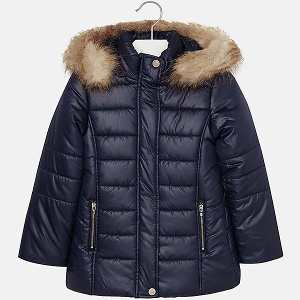 Куртка Mayoral для девочкиВерхняя одежда<br>Характеристики товара:<br><br>• цвет: синий<br>• состав ткани: 100% полиэстер, подклад - 100% полиэстер, утеплитель - 100% полиэстер<br>• застежка: молния<br>• капюшон с опушкой<br>• сезон: зима<br>• температурный режим: от 0 до -10<br>• страна бренда: Испания<br>• страна изготовитель: Индия<br><br>Синяя стильная куртка с опушкой для девочки от Майорал поможет обеспечить тепло и комфорт. Эффектная детская куртка отличается удлиненным силуэтом и наличием капюшона. <br><br>Детская одежда от испанской компании Mayoral отличаются оригинальным и всегда стильным дизайном. Качество продукции неизменно очень высокое.<br><br>Куртку для девочки Mayoral (Майорал) можно купить в нашем интернет-магазине.<br>Ширина мм: 356; Глубина мм: 10; Высота мм: 245; Вес г: 519; Цвет: темно-синий; Возраст от месяцев: 96; Возраст до месяцев: 108; Пол: Женский; Возраст: Детский; Размер: 128/134,170,164,158,152,140; SKU: 6922080;