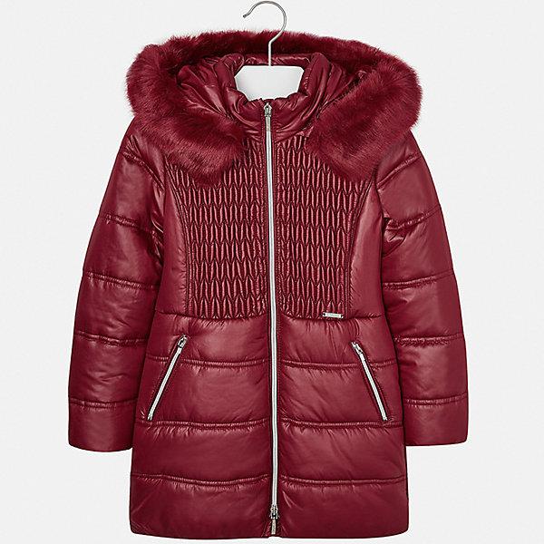 Куртка для девочки MayoralДемисезонные куртки<br>Характеристики товара:<br><br>• цвет: красный<br>• состав ткани: 100% полиэстер, подклад - 100% полиэстер, утеплитель - 100% полиэстер<br>• застежка: молния<br>• длинные рукава<br>• сезон: зима<br>• температурный режим: от 0 до -10<br>• страна бренда: Испания<br>• страна изготовитель: Индия<br><br>Такая утепленная куртка поможет сделать образ стильным и оригинальным. Куртка с отделкой из искусственного меха соответствует новейшим тенденциям молодежной моды. <br><br>В одежде от испанской компании Майорал ребенок будет выглядеть модно, а чувствовать себя - комфортно. Целая команда европейских талантливых дизайнеров работает над созданием стильных и оригинальных моделей одежды.<br><br>Куртку для девочки Mayoral (Майорал) можно купить в нашем интернет-магазине.<br>Ширина мм: 356; Глубина мм: 10; Высота мм: 245; Вес г: 519; Цвет: красный; Возраст от месяцев: 96; Возраст до месяцев: 108; Пол: Женский; Возраст: Детский; Размер: 128/134,170,164,158,152,140; SKU: 6922115;