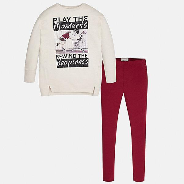 Купить Комплект: блузка и леггинсы Mayoral для девочки, Китай, красный, Женский