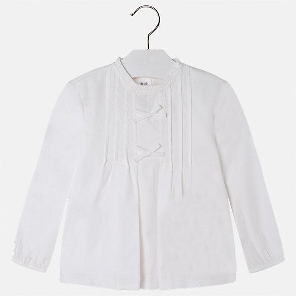 Рубашка Mayoral для девочкиБлузки и рубашки<br>Характеристики товара:<br><br>• цвет: бежевый<br>• состав ткани: 100% хлопок<br>• сезон: круглый год<br>• застежка: пуговицы<br>• длинные рукава<br>• страна бренда: Испания<br>• страна изготовитель: Индия<br><br>Хлопковая блузка от Майорал - это пример отличного вкуса. Она сделана из легкого дышащего материала. Эта блузка для девочки обеспечит ребенку комфорт и модный внешний вид. <br><br>В одежде от испанской компании Майорал ребенок будет выглядеть модно, а чувствовать себя - комфортно. Целая команда европейских талантливых дизайнеров работает над созданием стильных и оригинальных моделей одежды.<br><br>Блузку для девочки Mayoral (Майорал) можно купить в нашем интернет-магазине.<br>Ширина мм: 186; Глубина мм: 87; Высота мм: 198; Вес г: 197; Цвет: бежевый; Возраст от месяцев: 36; Возраст до месяцев: 48; Пол: Женский; Возраст: Детский; Размер: 104,128,134,122,116,110; SKU: 6923946;