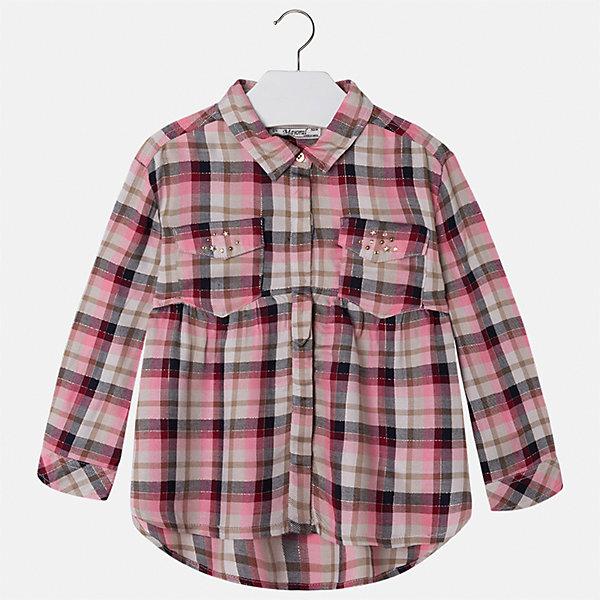 Рубашка Mayoral для девочкиБлузки и рубашки<br>Характеристики товара:<br><br>• цвет: красный<br>• состав ткани: 100% вискоза<br>• сезон: круглый год<br>• застежка: пуговицы<br>• стразы<br>• длинные рукава<br>• страна бренда: Испания<br>• страна изготовитель: Индия<br><br>Стильная блузка от Майорал - это пример отличного вкуса. Она сделана из легкого дышащего материала. Эта блузка для девочки обеспечит ребенку комфорт и модный внешний вид. <br><br>В одежде от испанской компании Майорал ребенок будет выглядеть модно, а чувствовать себя - комфортно. Целая команда европейских талантливых дизайнеров работает над созданием стильных и оригинальных моделей одежды.<br><br>Блузку для девочки Mayoral (Майорал) можно купить в нашем интернет-магазине.<br>Ширина мм: 186; Глубина мм: 87; Высота мм: 198; Вес г: 197; Цвет: красный; Возраст от месяцев: 72; Возраст до месяцев: 84; Пол: Женский; Возраст: Детский; Размер: 134,122,104,128,116,110; SKU: 6923992;
