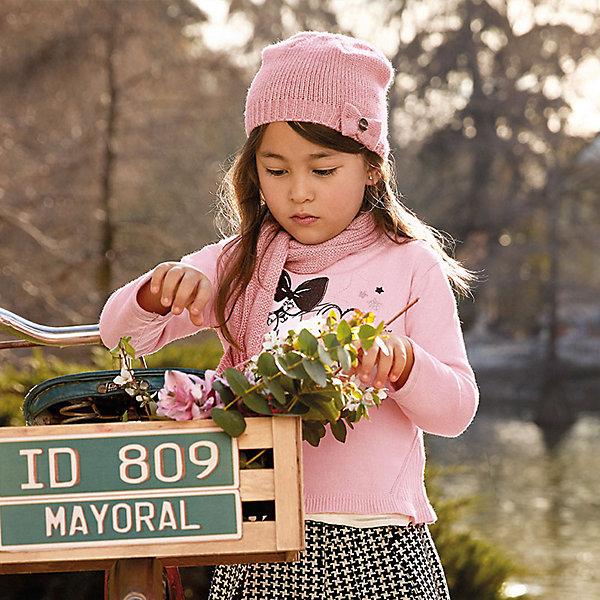 Свитер для девочки MayoralСвитера и кардиганы<br>Характеристики товара:<br><br>• цвет: розовый<br>• состав ткани: 55% хлопок, 45% акрил<br>• сезон: круглый год<br>• стразы<br>• длинные рукава<br>• страна бренда: Испания<br>• страна изготовитель: Индия<br><br>Розовый свитер отличается свободным силуэтом и интересной отделкой. Вязаный свитер для девочки от бренда Майорал поможет девочке выглядеть модно и чувствовать себя комфортно. <br><br>Для производства детской одежды популярный бренд Mayoral использует только качественную фурнитуру и материалы. Оригинальные и модные вещи от Майорал неизменно привлекают внимание и нравятся детям.<br><br>Свитер для девочки Mayoral (Майорал) можно купить в нашем интернет-магазине.<br>Ширина мм: 190; Глубина мм: 74; Высота мм: 229; Вес г: 236; Цвет: розовый; Возраст от месяцев: 18; Возраст до месяцев: 24; Пол: Женский; Возраст: Детский; Размер: 92,134,110,128,122,116,104,98; SKU: 6924045;