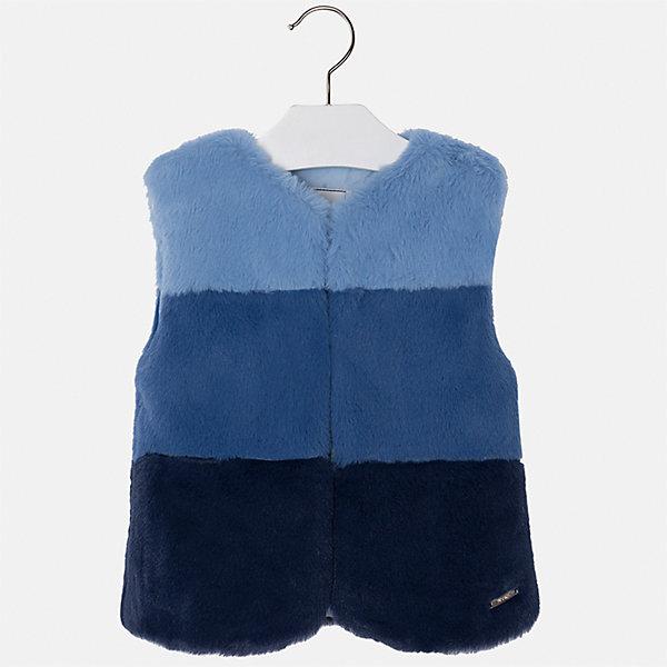 Жилет для девочки MayoralВерхняя одежда<br>Характеристики товара:<br><br>• цвет: синий<br>• состав ткани: 15% полиэстер, 85% акрил, подклад - 100% полиэстер<br>• застежка: молния<br>• без рукавов<br>• сезон: круглый год<br>• страна бренда: Испания<br>• страна изготовитель: Индия<br><br>Стильный синий жилет сделан из искусственного меха. Такой жилет для девочки от бренда Майорал поможет девочке выглядеть модно и чувствовать себя комфортно. <br><br>Для производства детской одежды популярный бренд Mayoral использует только качественную фурнитуру и материалы. Оригинальные и модные вещи от Майорал неизменно привлекают внимание и нравятся детям.<br><br>Жилет для девочки Mayoral (Майорал) можно купить в нашем интернет-магазине.<br>Ширина мм: 190; Глубина мм: 74; Высота мм: 229; Вес г: 236; Цвет: синий; Возраст от месяцев: 24; Возраст до месяцев: 36; Пол: Женский; Возраст: Детский; Размер: 98,134,128,122,116,110,104; SKU: 6924382;