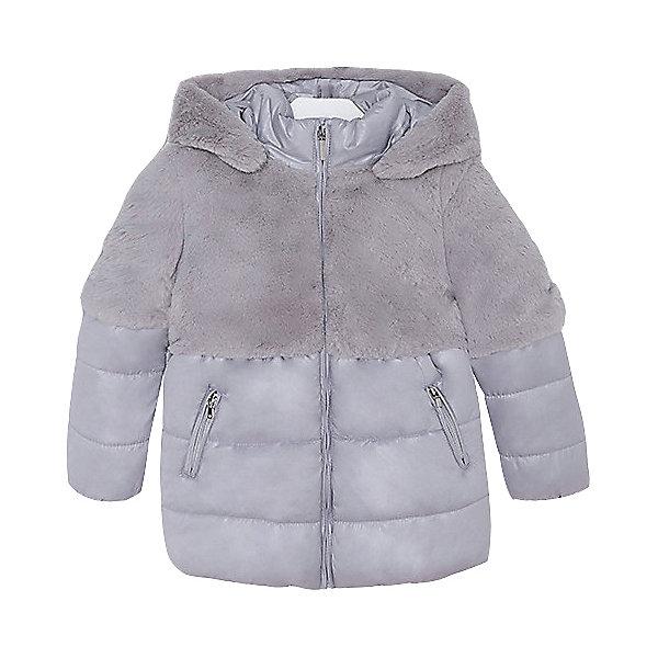 Куртка Mayoral для девочкиВерхняя одежда<br>Характеристики товара:<br><br>• цвет: серый<br>• состав ткани: 58% полиэстер, 42% акрил, подклад - 65% полиэстер, 35% акрил, утеплитель - 100% полиэстер<br>• застежка: молния<br>• длинные рукава<br>• сезон: демисезон<br>• температурный режим: от 0 до -10С<br>• страна бренда: Испания<br>• страна изготовитель: Индия<br><br>Стильная куртка сделана из качественного материала, декорирована оригинальной отделкой. Такая куртка для девочки от бренда Майорал поможет ребенку выглядеть модно и чувствовать себя комфортно. <br><br>Для производства детской одежды популярный бренд Mayoral использует только качественную фурнитуру и материалы. Оригинальные и модные вещи от Майорал неизменно привлекают внимание и нравятся детям.<br><br>Куртку для девочки Mayoral (Майорал) можно купить в нашем интернет-магазине.<br>Ширина мм: 356; Глубина мм: 10; Высота мм: 245; Вес г: 519; Цвет: серый; Возраст от месяцев: 18; Возраст до месяцев: 24; Пол: Женский; Возраст: Детский; Размер: 104,98,92,134,128,122,116,110; SKU: 6924429;