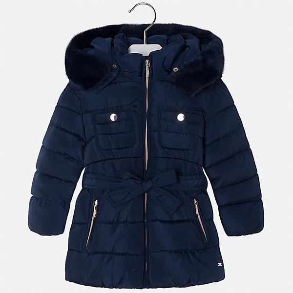 Куртка Mayoral для девочкиДемисезонные куртки<br>Характеристики товара:<br><br>• цвет: синий<br>• состав ткани: 100% полиэстер, подклад - 100% полиэстер, утеплитель - 100% полиэстер<br>• застежка: молния<br>• съемный капюшон<br>• карманы<br>• сезон: демисезон<br>• температурный режим: от 0 до -10С<br>• страна бренда: Испания<br>• страна изготовитель: Китай<br><br>Синяя практичная куртка Mayoral со съемным капюшоном сделана из качественного материала. Красиво смотрится благодаря опушке капюшона. Такая куртка для девочки от бренда Майорал поможет ребенку выглядеть модно и чувствовать себя комфортно. <br><br>Для производства детской одежды популярный бренд Mayoral использует только качественную фурнитуру и материалы. Оригинальные и модные вещи от Майорал неизменно привлекают внимание и нравятся детям.<br><br>Куртку для девочки Mayoral (Майорал) можно купить в нашем интернет-магазине.<br>Ширина мм: 356; Глубина мм: 10; Высота мм: 245; Вес г: 519; Цвет: синий; Возраст от месяцев: 18; Возраст до месяцев: 24; Пол: Женский; Возраст: Детский; Размер: 92,134,128,122,116,110,104,98; SKU: 6924664;