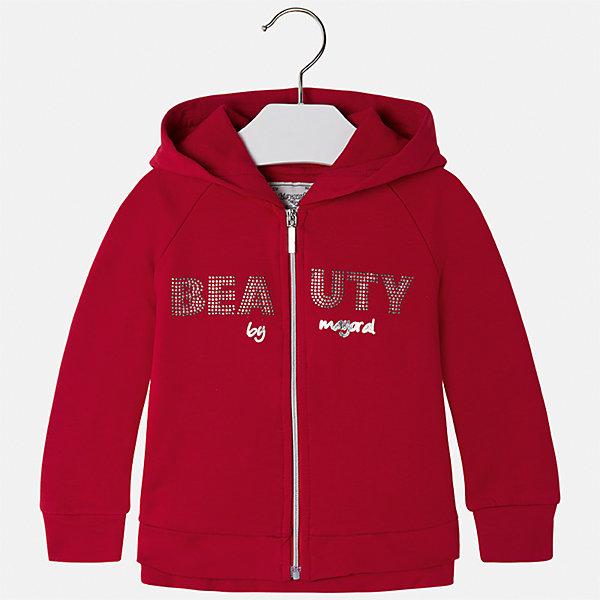 Куртка Mayoral для девочкиДемисезонные куртки<br>Характеристики товара:<br><br>• цвет: красный<br>• состав ткани: 95% хлопок, 5% эластан<br>• застежка: молния<br>• капюшон<br>• стразы<br>• сезон: круглый год<br>• страна бренда: Испания<br>• страна изготовитель: Китай<br><br>Легкая куртка для девочки эффектно смотрится благодаря блестящему принту. Такая куртка от Майорал - это пример отличного вкуса и высокого качества. <br><br>В одежде от испанской компании Майорал ребенок будет выглядеть модно, а чувствовать себя - комфортно. Целая команда европейских талантливых дизайнеров работает над созданием стильных и оригинальных моделей одежды.<br><br>Куртку для девочки Mayoral (Майорал) можно купить в нашем интернет-магазине.<br>Ширина мм: 356; Глубина мм: 10; Высота мм: 245; Вес г: 519; Цвет: красный; Возраст от месяцев: 72; Возраст до месяцев: 84; Пол: Женский; Возраст: Детский; Размер: 122,116,110,104,98,92,134,128; SKU: 6924701;