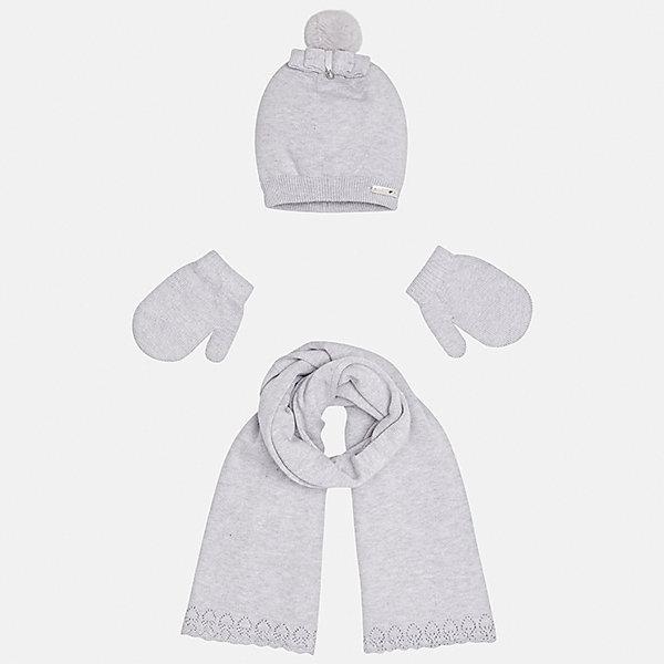 Mayoral Комплект: шапка, шарф и варежки Mayoral для девочки senbodulun шарф варежки