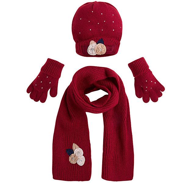 Комплект: шапка, шарф и перчатки для девочки MayoralШарфы, платки<br>Характеристики товара:<br><br>• цвет: красный<br>• состав ткани: 75% акрил, 25% полиамид<br>• сезон: демисезон<br>• комплектация: шапка, шарф, перчатки<br>• страна бренда: Испания<br>• страна изготовитель: Индия<br><br>Обеспечить ребенку тепло и комфорт поможет такой набор. Детский комплект для межсезонья от бренда Майорал смотрится модно и оригинально.<br><br>Детская одежда от испанской компании Mayoral отличаются оригинальным и всегда стильным дизайном. Качество продукции неизменно очень высокое.<br><br>Комплект: шапка, шарф и перчатки для девочки Mayoral (Майорал) можно купить в нашем интернет-магазине.<br>Ширина мм: 89; Глубина мм: 117; Высота мм: 44; Вес г: 155; Цвет: красный; Возраст от месяцев: 48; Возраст до месяцев: 60; Пол: Женский; Возраст: Детский; Размер: 52,50,54; SKU: 6925619;