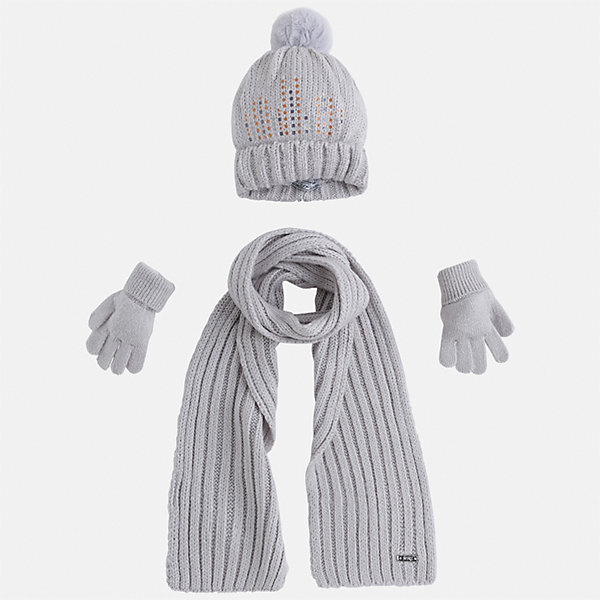 Mayoral Комплект: шапка, шарф и перчатки Mayoral для девочки варежки перчатки и шарфы coccodrillo шарф для девочки love cats