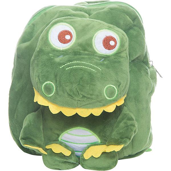 Рюкзак  VitacciДетские сумки<br>Характеристики товара:<br><br>• цвет: зеленый;<br>• материал: текстиль;<br>• особенности: с игрушкой;<br>• застежка: молния;<br>• количество отделений: 1;<br>• игрушка не съемная;<br>• плечевые лямки регулируются по длине;<br>• объем: 0,02 л;<br>• вес: 100 гр;<br>• размер: 24х10х25 см;<br>• страна бренда: Италия;<br>• страна производства: Китай.<br><br>Рюкзак с игрушкой в виде динозавра. Рюкзак застегивается на молнию, внутри одно отделение. Игрушка пришита к рюкзаку. Плечевые лямки регулируются. Рюкзак очень легкий.<br><br>Рюкзак Vitacci (Витачи) можно купить в нашем интернет-магазине.<br>Ширина мм: 170; Глубина мм: 157; Высота мм: 67; Вес г: 117; Цвет: зеленый; Возраст от месяцев: 48; Возраст до месяцев: 144; Пол: Унисекс; Возраст: Детский; Размер: one size; SKU: 6926956;