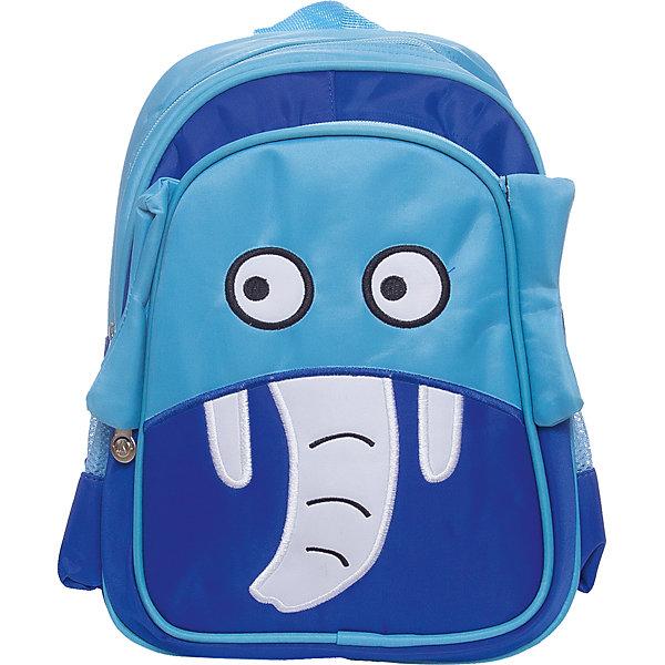 Рюкзак  Vitacci для мальчикаАксессуары<br>Характеристики товара:<br><br>• цвет: синий;<br>• материал: текстиль;<br>• особенности: с рисунком;<br>• застежка: молния;<br>• количество отделений: 1;<br>• внешний карман на молнии;<br>• два боковых кармана без застежки;<br>• плечевые лямки регулируются;<br>• вес: 150 гр;<br>• размер: 30х10х22 см;<br>• страна бренда: Италия;<br>• страна производства: Китай.<br><br>Детский рюкзак с рисунком в виде слона. Рюкзак застегивается на молнию, имеется внешний карман на молнии и два боковых кармана без застежки. Плечевые ремни регулируются.<br><br>Рюкзак Vitacci (Витачи) можно купить в нашем интернет-магазине.<br>Ширина мм: 170; Глубина мм: 157; Высота мм: 67; Вес г: 117; Цвет: голубой; Возраст от месяцев: 48; Возраст до месяцев: 144; Пол: Мужской; Возраст: Детский; Размер: one size; SKU: 6926988;