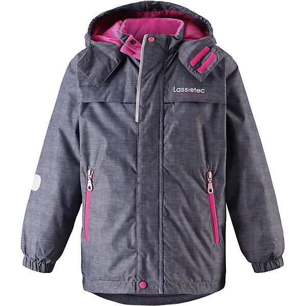 Куртка Lassietec LassieОдежда<br>Характеристики товара:<br><br>• цвет: серый/розовый;<br>• состав: 100% полиэстер, полиуретановое покрытие;<br>• подкладка: 100% полиэстер;<br>• утеплитель: 140 г/м2;<br>• сезон: зима;<br>• температурный режим: от 0 до -20С;<br>• водонепроницаемость: 5000 мм;<br>• воздухопроницаемость: 5000 мм;<br>• износостойкость: 20000 циклов (тест Мартиндейла)<br>• застежка: молния с дополнительной защитной планкой;<br>• водоотталкивающий, ветронепроницаемый, дышащий и грязеотталкивающий материал;<br>• внешние швы проклеены;<br>• гладкая подкладка из полиэстера;<br>• безопасный съемный капюшон; <br>• эластичная талия и манжеты рукавов;<br>• карманы на молнии;<br>• светоотражающие детали;<br>• страна бренда: Финляндия;<br>• страна изготовитель: Китай;<br><br>Эта теплая и функциональная детская зимняя куртка Lassietec® отлично подходит для ежедневной носки! Съемный капюшон защищает от пронизывающего ветра и гарантирует безопасность во время игр на свежем воздухе. Гладкая и приятная на ощупь подкладка облегчает надевание и обеспечивает дополнительное утепление. Все основные швы в куртке проклеены, водонепроницаемы, а водонепроницаемый, ветронепроницаемый и дышащий материал обеспечивает комфорт во время веселых прогулок. <br><br>Куртку Lassietec Lassie (Ласси) для мальчика можно купить в нашем интернет-магазине.<br>Ширина мм: 356; Глубина мм: 10; Высота мм: 245; Вес г: 519; Цвет: серый; Возраст от месяцев: 18; Возраст до месяцев: 24; Пол: Женский; Возраст: Детский; Размер: 104,98,92,140,134,128,122,116,110; SKU: 6927443;