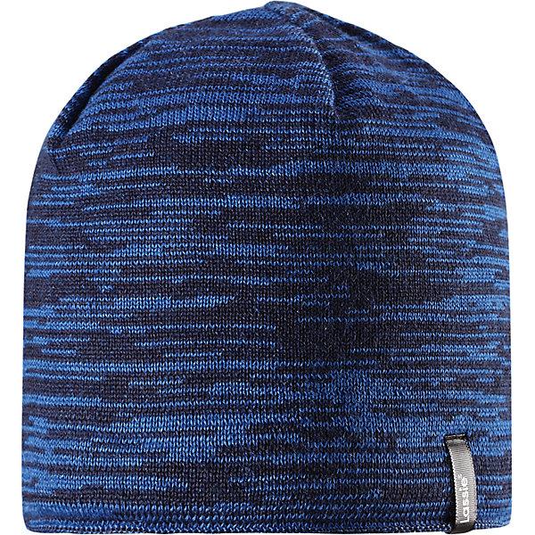 Шапка Lassie для мальчикаШапки и шарфы<br>Характеристики товара:<br><br>• цвет: синий;<br>• состав: 50% шерсть, 50% полиакрил;<br>• подкладка: 100% полиэстер, флис;<br>• без утеплителя;<br>• сезон: демисезон;<br>• температурный режим: от +5С;<br>• особенности: шерстяная, вязаная;<br>• мягкая и теплая ткань из смеси шерсти;<br>• ветронепроницаемые вставки в области ушей; <br>• сплошная подкладка: мягкий теплый флис;<br>• светоотражающие детали; <br>• страна бренда: Финляндия;<br>• страна изготовитель: Китай;<br><br>Эта модная шапка для мальчиков – великолепное дополнение к детскому зимнему гардеробу. Шапка связана из теплой полушерсти, дополнена быстросохнущей и мягкой флисовой подкладкой и снабжена ветронепроницаемыми вставками в области ушей, которые защищают ушки от холодного ветра. Светоотражающая эмблема Lassie®.<br><br>Шапку Lassie (Ласси) можно купить в нашем интернет-магазине.<br>Ширина мм: 89; Глубина мм: 117; Высота мм: 44; Вес г: 155; Цвет: синий; Возраст от месяцев: 12; Возраст до месяцев: 24; Пол: Мужской; Возраст: Детский; Размер: 46-48,54-56,50-52; SKU: 6928129;