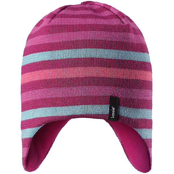 Шапка LassieЗимние<br>Характеристики товара:<br><br>• цвет: розовый;<br>• состав: 50% шерсть, 50% полиакрил;<br>• подкладка: 100% полиэстер, флис;<br>• без утеплителя;<br>• сезон: демисезон;<br>• температурный режим: от +5С;<br>• особенности: шерстяная, вязаная;<br>• мягкая и теплая ткань из смеси шерсти;<br>• ветронепроницаемые вставки в области ушей; <br>• сплошная подкладка: мягкий теплый флис;<br>• светоотражающие детали; <br>• страна бренда: Финляндия;<br>• страна изготовитель: Китай;<br><br>Эта теплая детская шапка в яркую полоску связана из теплой полушерсти и дополнена плотной и мягкой подкладкой из тонкого флиса. Ветронепроницаемые вставки в области ушей обеспечивают дополнительную защиту, а светоотражающая эмблема Lassie® позволяет лучше разглядеть ребенка в темное время суток.<br><br>Шапку Lassie (Ласси) можно купить в нашем интернет-магазине.<br>Ширина мм: 89; Глубина мм: 117; Высота мм: 44; Вес г: 155; Цвет: розовый; Возраст от месяцев: 12; Возраст до месяцев: 24; Пол: Женский; Возраст: Детский; Размер: 46-48,54-56,50-52; SKU: 6928141;