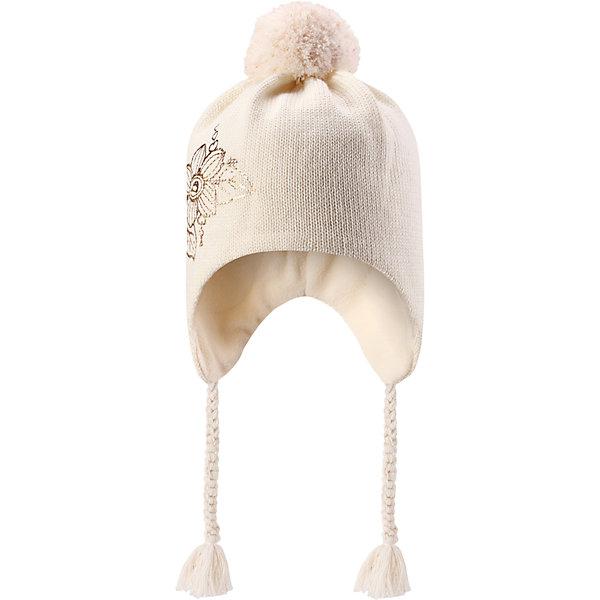 Шапка Lassie для девочкиШапки и шарфы<br>Характеристики товара:<br><br>• цвет: белый;<br>• состав: 50% шерсть, 50% полиакрил;<br>• подкладка: 100% полиэстер, флис;<br>• без утеплителя;<br>• сезон: демисезон;<br>• температурный режим: от +5С;<br>• особенности: шерстяная, с помпоном;<br>• шапка на завязках;<br>• мягкая и теплая ткань из смеси шерсти;<br>• ветронепроницаемые вставки в области ушей; <br>• сплошная подкладка: мягкий теплый флис;<br>• светоотражающие детали; <br>• страна бренда: Финляндия;<br>• страна изготовитель: Китай;<br><br>Эта очаровательная детская шапка незаменима в холодные зимние дни! Красивая и гладкая флисовая подкладка очень приятна на ощупь и обеспечивает дополнительное утепление. Ветронепроницаемые вставки в области ушей защищают ушки от холодного ветра, а спереди на шапке размещена светоотражающая эмблема Lassie®. <br><br>Шапку Lassie (Ласси) можно купить в нашем интернет-магазине.<br>Ширина мм: 89; Глубина мм: 117; Высота мм: 44; Вес г: 155; Цвет: белый; Возраст от месяцев: 12; Возраст до месяцев: 24; Пол: Женский; Возраст: Детский; Размер: 46-48,50-52,54-56; SKU: 6928157;