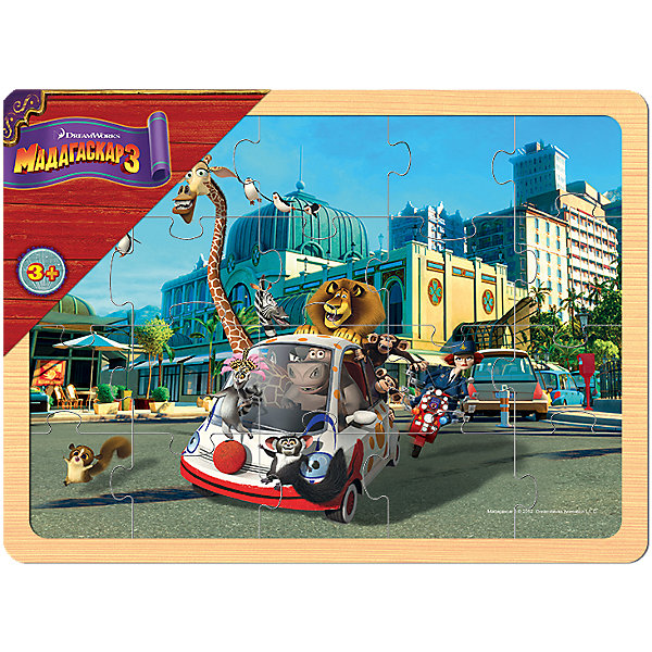 Степ Пазл Игра из дерева Мадагаскар 3, Step Puzzle степ пазл игра фикси телескоп step puzzle
