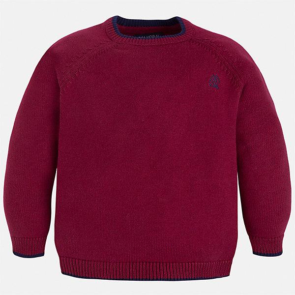 Свитер для мальчика MayoralСвитера и кардиганы<br>Характеристики товара:<br><br>• цвет: бордовый;<br>• состав ткани: 60% хлопок, 30% полиамид, 10% шерсть;<br>• длинный рукав - реглан;<br>• однотонный;<br>• сезон: демисезон;<br>• школьный;<br>• страна бренда: Испания;<br>• страна изготовитель: Бангладеш.<br><br>Однотонный свитер для мальчика от популярного бренда Mayoral из натурально и мягкого 100% хлопка тонкой вязки, декорирован маленьким принтом в виде логотипа с вышивкой. Имеет круглый вырез и уплотненные края на руковах и поясе. Очень практичный и долгий в носке, цвет нетускнеет, смотрится аккуратно и стильно как с джинсами, так и в сочетании со школьной формой.<br><br>Для производства детской одежды популярный бренд Mayoral используют только качественную фурнитуру и материалы. Оригинальные и модные вещи от Майорал неизменно привлекают внимание и нравятся детям.<br><br>Свитер для мальчика Mayoral (Майорал) можно купить в нашем интернет-магазине.<br>Ширина мм: 190; Глубина мм: 74; Высота мм: 229; Вес г: 236; Цвет: красный; Возраст от месяцев: 48; Возраст до месяцев: 60; Пол: Мужской; Возраст: Детский; Размер: 110,128,122,116,104,98,92,134; SKU: 6931805;