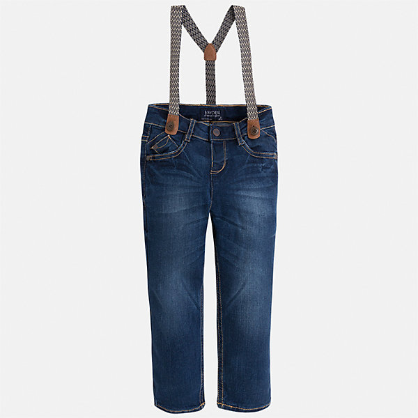 Mayoral Брюки для мальчика Mayoral джинсы для мальчика oldos ковбой цвет синий 6o8jn09 размер 74 9 месяцев