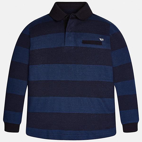 Футболка-поло с длинным рукавом для мальчика MayoralФутболки с длинным рукавом<br>Характеристики товара:<br><br>• цвет: черный/синий<br>• состав ткани: 100% хлопок<br>• сезон: демисезон<br>• особенности модели: отложной воротник<br>• застежка: пуговицы<br>• длинные рукава<br>• страна бренда: Испания<br>• страна изготовитель: Индия<br><br>Черная детская рубашка-поло с длинным рукавом сделана из дышащего приятного на ощупь материала. Благодаря продуманному крою детской футболки-поло создаются комфортные условия для тела. рубашка-поло с длинным рукавом для мальчика отличается стильным продуманным дизайном.<br><br>Рубашку-поло с длинным рукавом для мальчика Mayoral (Майорал) можно купить в нашем интернет-магазине.<br>Ширина мм: 230; Глубина мм: 40; Высота мм: 220; Вес г: 250; Цвет: черный; Возраст от месяцев: 156; Возраст до месяцев: 168; Пол: Мужской; Возраст: Детский; Размер: 164,170,158,152,140; SKU: 6933508;