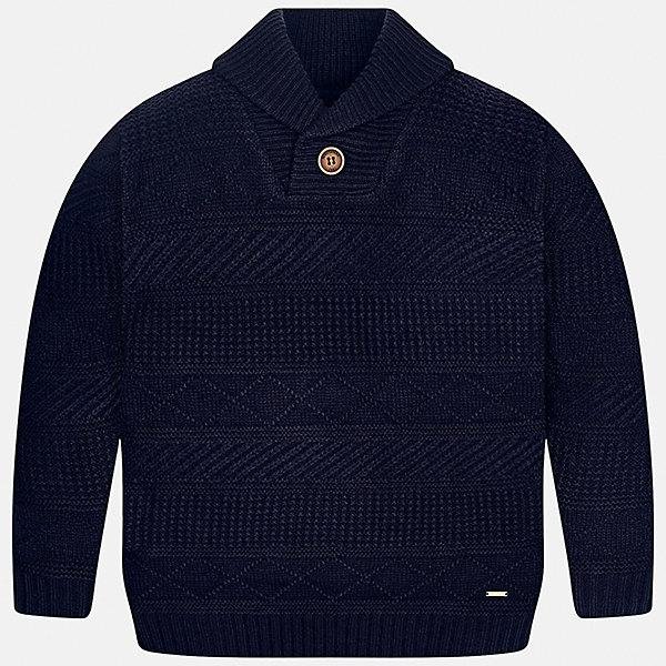 Свитер Mayoral для мальчикаСвитера и кардиганы<br>Характеристики товара:<br><br>• цвет: синий<br>• состав ткани: 85% акрил, 15% шерсть<br>• сезон: демисезон<br>• особенности модели: вязаный узор<br>• длинные рукава<br>• страна бренда: Испания<br>• страна изготовитель: Индия<br><br>Вязаный детский свитер сделан из дышащего приятного на ощупь материала. Благодаря продуманному крою детского свитера создаются комфортные условия для тела. Свитер с узором для мальчика отличается стильным продуманным дизайном.<br><br>Свитер для мальчика Mayoral (Майорал) можно купить в нашем интернет-магазине.<br>Ширина мм: 190; Глубина мм: 74; Высота мм: 229; Вес г: 236; Цвет: синий; Возраст от месяцев: 156; Возраст до месяцев: 168; Пол: Мужской; Возраст: Детский; Размер: 164,158,152,140,128/134,170; SKU: 6933654;