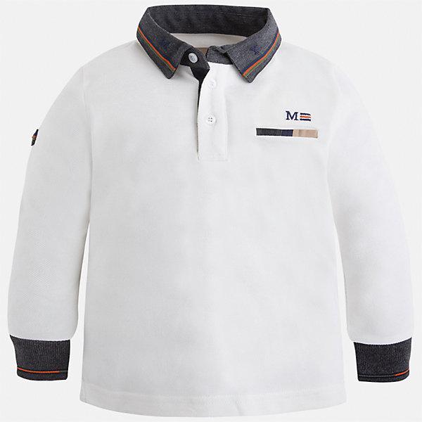 Mayoral Футболка-поло с длинным рукавом Mayoral для мальчика рубашка nines поло с длинным рукавом