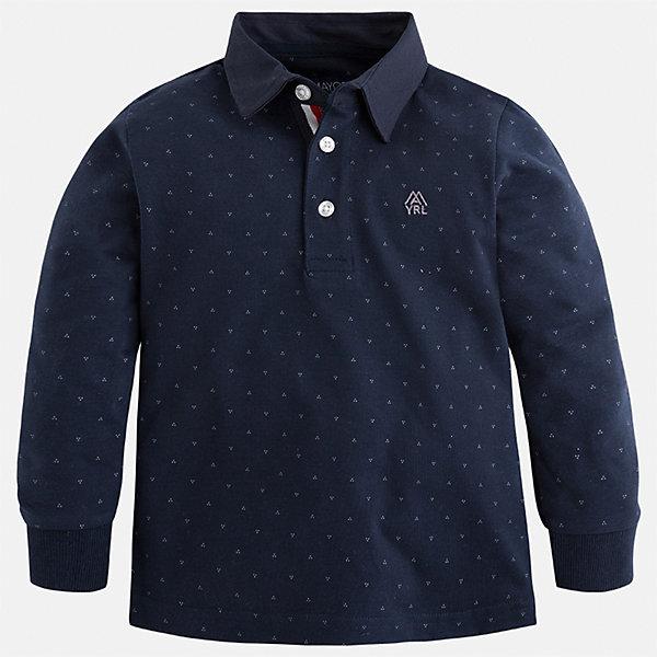 Mayoral Футболка-поло с длинным рукавом Mayoral для мальчика футболка с длинным рукавом мужская levi s® цвет темно синий 3601500090 размер xl 52